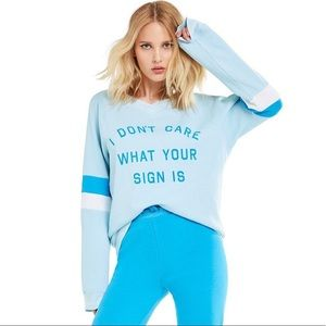 Wildfox I Don't Care What Your Sign is Jumper S